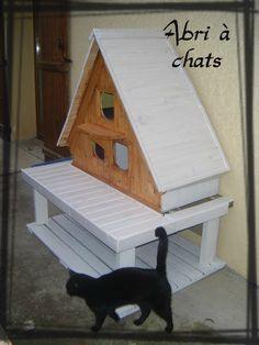 cabane a chat en bois de palette maison chatrmante et. Black Bedroom Furniture Sets. Home Design Ideas