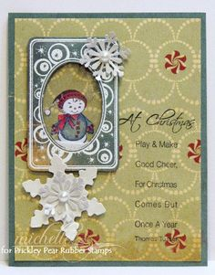 Prickley Pear Rubber Stamps: Retro Holiday Tag, Ellie Small, Play And Make Good Cheer