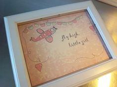 Pink airplane art print unframed pink wall by SweetMeadowDesigns