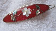 wonderful vintage barrette silver tone with by rosebudcottage