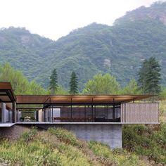 Entry. Proposed meditation pavilion. Yellow mountain