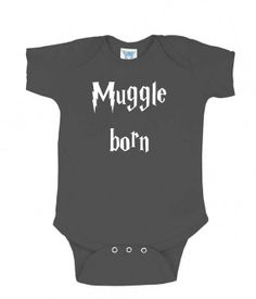 Muggle Born Baby One Piece Suit Infant Clothing by RedlegTees 6e39052cf