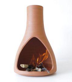 Clay Fire Vase By Martín Azúa - Spain. $295