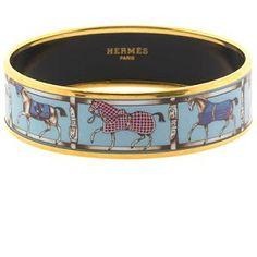 hermes enamel equestrian bracelet -