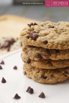 Craftaholics Anonymous® | Peanut Butter Oatmeal Chocolate Chip Cookies