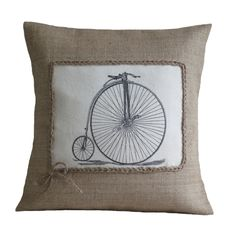 old bicycle cushion cover Main Image