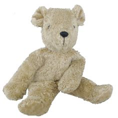 Organic Cotton Beige Teddy Bear. Handmade in Germany, stuffed with lambswool. So cute and cuddly! $49.95