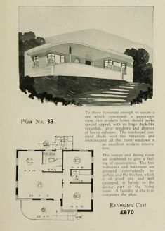 More Art Deco and Moderne House Plans Including the House of