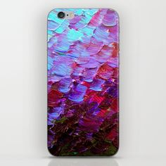"""Mermaid Scales"" by Ebi Emporium on #Society6, Fine Art Cell Phone Skin Abstract Acrylic Painting Modern Decorative Eggplant Dark Purple Violet Turquoise Ombre, #fineart #ombre #art #purple #purple #mermaid #colorful #abstractpainting #EbiEmporium #JuliaDiSano #cellphone #phoneskin #decal #iphonedecal #skin #iphone5 #iphone6 #iphone6plus #samsunggalaxy #tech #techie"