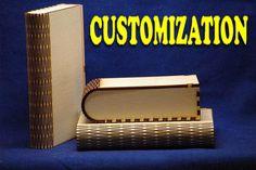 Mini-Living Scharnier Buch Shaped Box-Sperrholz. CNC Cut Datei by projectCNC | Etsy(original template created with http://boxdesigner.frag-den-spatz.de)