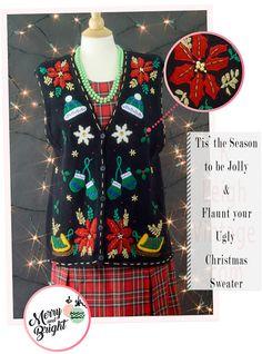 Ugly Christmas Sweater Vest Tacky Christmas Vest Snowflake