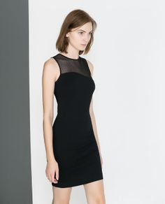 TUBE DRESS WITH COMBINATION NECKLINE from Zara