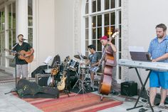 Montalvo Teaching Artist Chris Reed and his band entertain at the Final Friday Art Party | image by Tina Case Photography