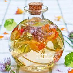 Nancy Baggett's Kitchenlane: Nasturtium-Chive Vinegar--Easy, Zingy Beauty in a Bottle