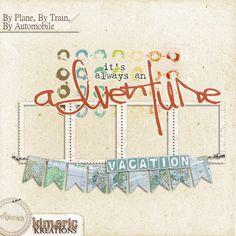 Scrapbooking TammyTags -- TT - Designer - Kimeric Kreations, TT - Item - Frame, TT - Style - Cluster, TT - Theme - Vacation or Travel