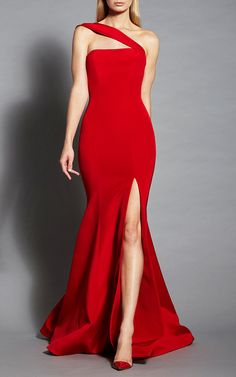 One Shoulder Gown by ROMONA KEVEŽA for Preorder on Moda Operandi