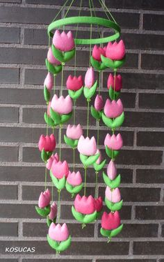 Pretty tulip mobile