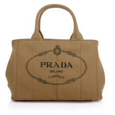 Great for lazy summer days on the beach...Prada Canapa Shopping Bag in Tabacco. Fashionette.de