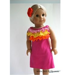 Tutorial: Make a doll dress from a newborn baby shirt