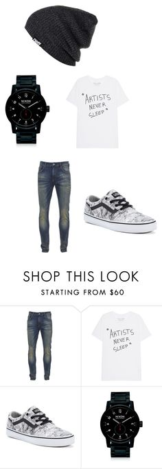 """""""Zeik's outfit"""" by millie-williams ❤ liked on Polyvore featuring Scotch & Soda, Vans, Nixon, Neff, men's fashion and menswear"""