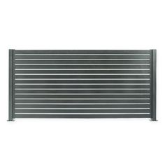 Transform your backyard into a private oasis with the Quick Screen Fencing Kit. Made from aluminum with a powder coat finish that won't warp or crack, this easy to install kit features an adjustable slat design and can be cut to your desired size. Bin Storage Ideas Wheelie, Storage Bins, Exterior Shutters, Diy Shutters, Modern Fence Design, Slat Wall, Buy Buy, Fence Panels, Suites