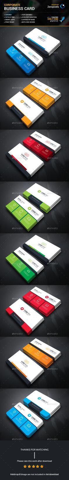 Corporate Business Card Template PSD Bundle. Download here: http://graphicriver.net/item/corporate-business-card-bundle/16769808?ref=ksioks