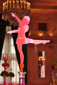 Large Dancer Silhouette Cutout Centerpiece by DaffyPartyShoppe, $94.00