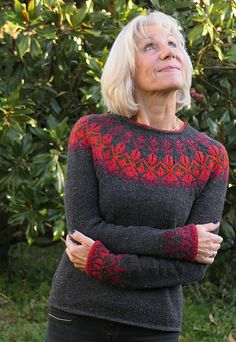 Ravelry: Eysa pattern by Heidemarie Kaiser Get introduction discount until Sunday (January, - no code needed. Fair Isle Knitting Patterns, Fair Isle Pattern, Knitting Designs, Boho Bluse, Ravelry, Raglan Pullover, Icelandic Sweaters, Knitting For Beginners, Sweater Fashion