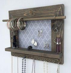 Jewelry Organizer w/Shelf by 5GirlsCreations on Etsy