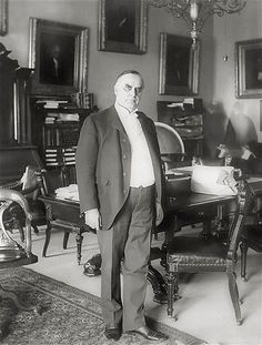 William McKinley, a Civil War veteran and Ohio lawyer, was the 25th US president. He presided over a period of economic prosperity. When Spain refused to grant independence to Cuba, McKinley launched the Spanish-American War of 1898. After winning the war, the US gained the colonies of Puerto Rico, Guam and the Philippines. He was shot by a deranged anarchist and died eight days later.