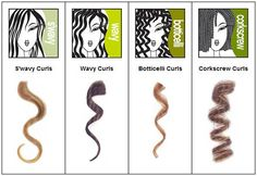 all different types of curls