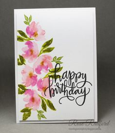 Hello Sharing another card I made a few weeks ago before my neck issues. This one is for my mum's 95th birthday in a couple of weeks. ...