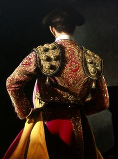 Christian Gaillard, 'Torero' series, Matador in Fuchsia & Gold Suit