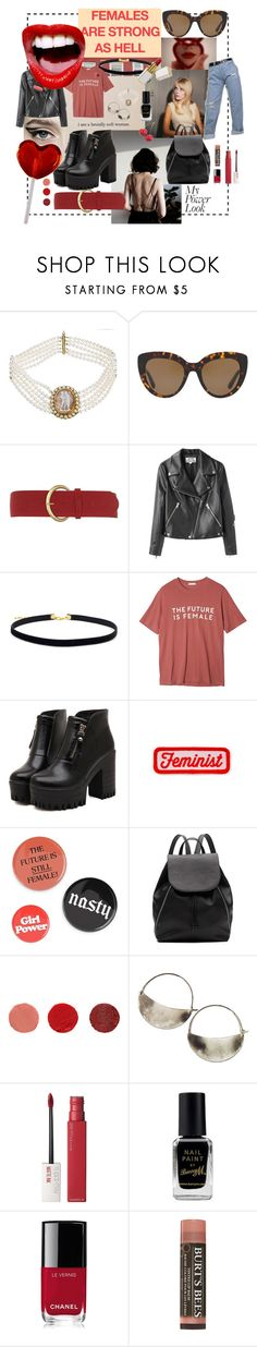 """""""brutally soft woman"""" by phoebenightingale ❤ liked on Polyvore featuring Katheley's, Dolce&Gabbana, Dorothy Perkins, Acne Studios, StyleNanda, Dr. Martens, Witchery, Ilia, Lila Rice and Maybelline"""