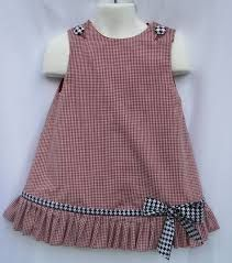 Gingham Alabama Ruffle Dress with Houndstooth Trim and Applique Game Day! Gingham Alabama Ruffle Dress with Houndstooth Trim and Applique Kids Frocks, Frocks For Girls, Dresses Kids Girl, Kids Outfits, Children Dress, Children Clothes, Girls Dresses Sewing, Fashion Children, Babies Clothes
