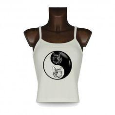 Top mode dame débardeur - Yin-Yang - Chat tribal https://www.apprentiphotographe.ch/shop/fr/t-shirt-dame-tribal/441-top-mode-dame-debardeur-yin-yang-chat-tribal.html