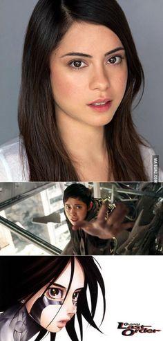 Rosa Salazar landed the lead role of Battle Angel Alita (Gunnm)