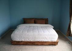 how to make a cheap pallet bed frame pallet bed bedsking size platform