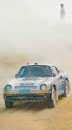 Porsche 959 at Paris-Dakar Rallye Paris Dakar, Rally Raid, Porsche 924, Range Rover Classic, 4x4, Car Brands, Art Cars, Audi, Automobile