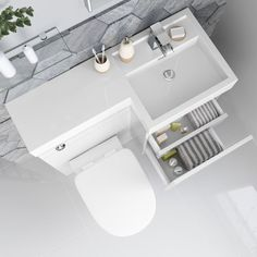 17 Ideas Bathroom Vanity Unit White Drawers For 2019 Condo Bathroom, Bathroom Vanity Units, Budget Bathroom, Bathroom Flooring, Bathrooms, Bathroom Ideas, Best Bathroom Colors, Blue Laundry Rooms, Berlin
