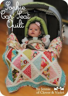 Sophie Car Seat QuiltTutorial on the Moda Bake Shop. http://www.modabakeshop.com
