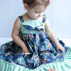 Handmade dress by featuring Monteverde fabric by Hawthorne Threads