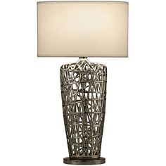 This indoor table lamp is a beautiful addition to your home decor. This attractive item is defined by its unique design, chrome finish, and simple white shade, which makes this lamp work as the perfect fixture in any contemporary home.