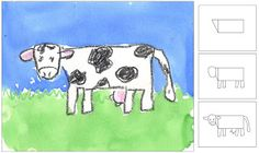 You searched for label/artist Andy Warhol · Art Projects for Kids Drawing Projects, Drawing Lessons, Art Lessons, Art Projects, Cow Drawing, Drawing For Kids, Art For Kids, Andy Warhol Art, Farm Art