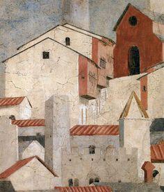 PIERO DELLA FRANCESCA 7a. Finding of the True Cross (detail) 1452-66 Fresco San…