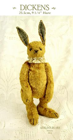 NEW   Dickens the Hare Bunny Rabbit  pdf Pattern by aerlinnbears, $13.00