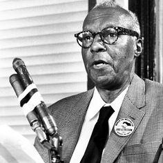 """""""Freedom is never given; it is won."""" RIP civil rights leader A. Philip Randolph who passed away today in 1979.  Mr Randolph organized & led the Brotherhood of Sleeping Car Porter (the first predominantly black labor union) & early leader of the civil-rights movement. He was one of the leaf Organizers of the Million Man March (Summer of 1963) & worked closely with the Roosevelt & Truman Administrations  regarding civil Rights Issues #BlackHistory #CivilRights"""