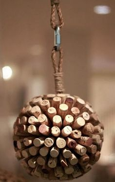 I may also try to make a cork ball like this one from Anthropologie.
