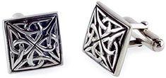 Sterling Silver Celtic Knotwork Design Cufflinks - Triskele  Price Β£69.5
