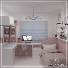Trendy home decored ideas bedroom kids awesome Tiny Bedroom Design, Small Room Design, Girl Bedroom Designs, Small Room Bedroom, Kids Bedroom, Home Office Decor, Home Decor Bedroom, Deco Rose, Cute Room Decor